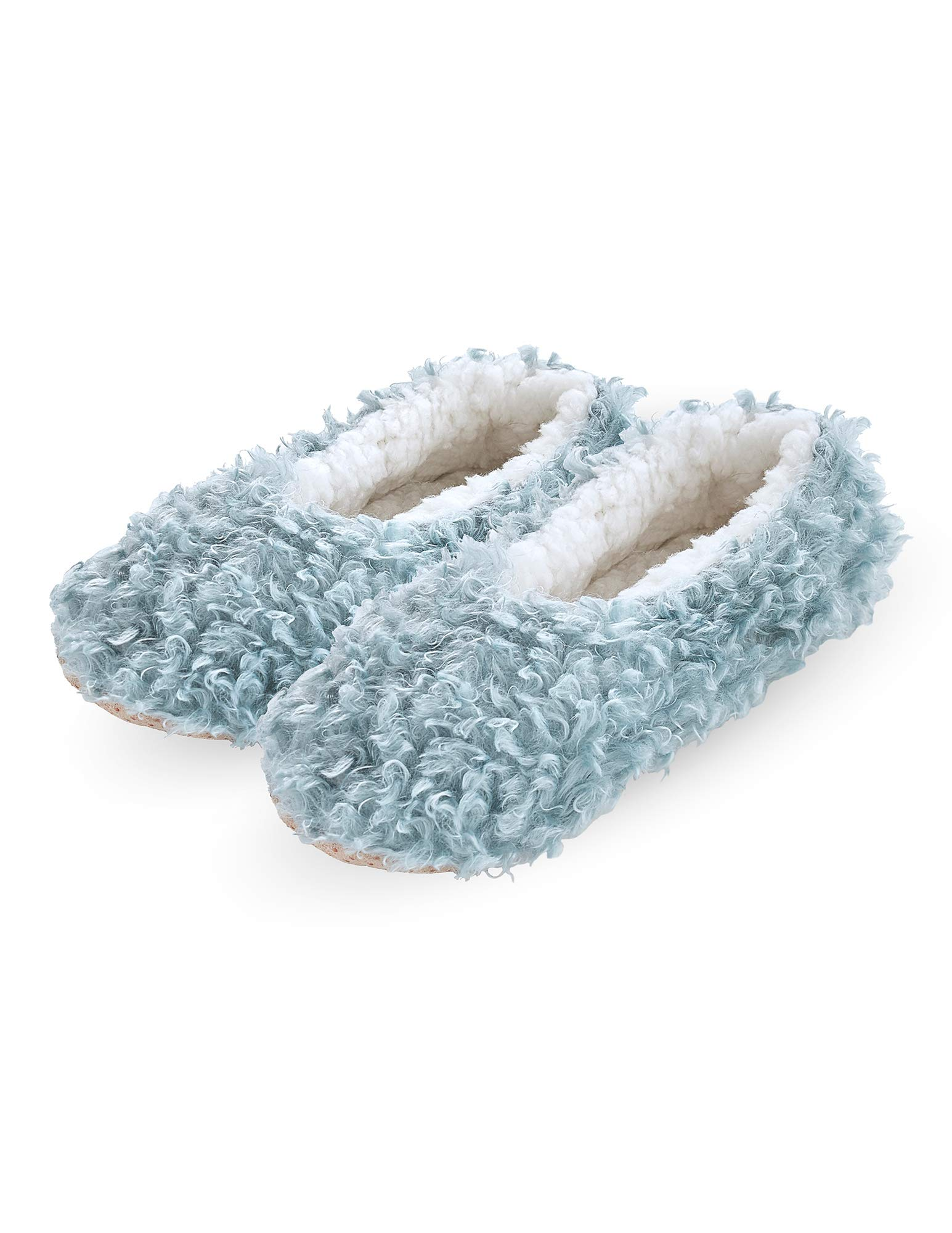 HUE Women's Fluffy Slipper Shue Sock with Grippers