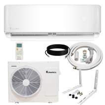Klimaire 24,000 BTU 20.5 SEER Ductless Mini-Split Inverter Air Conditioner Heat Pump with 15 ft Installation Kit