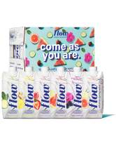 Flow Alkaline Spring Water, Natural Alkaline Water pH 8.1, Electrolytes + Essential Minerals, Eco-Friendly Pack, 100% Recyclable, BPA-Free, Non-GMO, 2 of Each Organic Flavor, Variety Pack 12 x 500ml