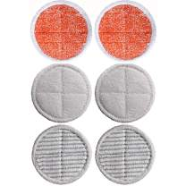 6 Pack Mop Pads Compatible Bissell Spinwave Mop Replacement for Spinwave 2039A 2124 Powered Hard Floor Mop