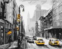 """Paint by Numbers for Adults by BANLANA, DIY Adult Paint by Number Kits for Beginners on Canvas Rolled 16"""" by 20"""" (Street View of New York)"""