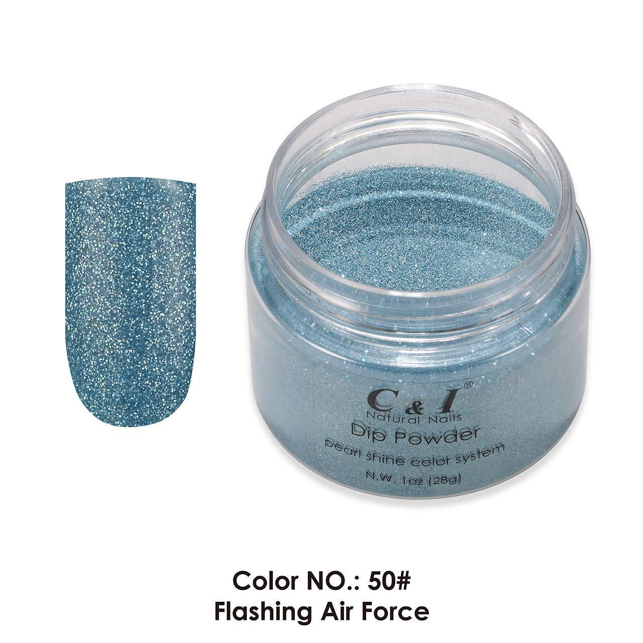 C & I Dip Powder Color No.050 Flashing Air Force Pearl Shine Color System