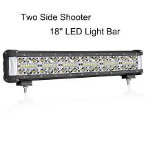 Side Shooter LED Light Bar, OFFROADTOWN 18'' 260W Quad Row Off Road LED Driving Lights Side Shooter Spot Flood Combo Beam Driving Fog Lamp OSRAM LED Work Light for Trucks Jeep ATV UTV SUV Marine