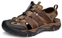 ATIKA Men's Sports Sandals Trail Outdoor Water Shoes 3Layer Toecap, All Terrain Orbital(m107) - Brown, 7,