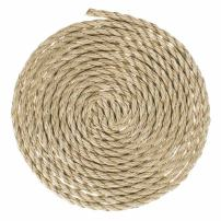 GOLBERG G ProManila Rope (1/4 Inch, 100 Feet) Tan Twisted 3 Strand Polypro Cord - Marine, Nautical, DIY Projects, Tie Downs