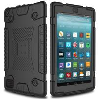 All-New Amazon Fire 7 Tablet Case, Elegant Choise Soft Silicone Kid Friendly Anti-Slip Shockproof Protective Case Cover for Amazon Kindle Fire 7 2017 Release (Black)