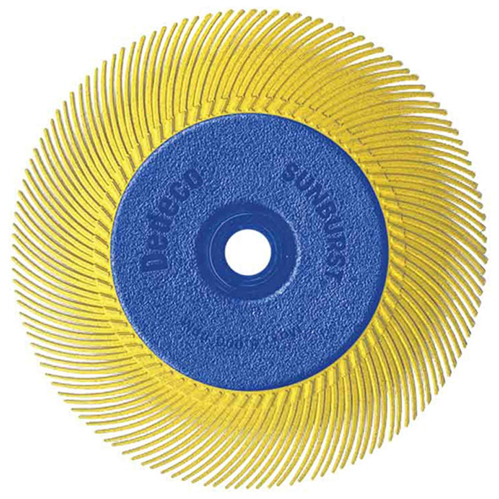 Dedeco Sunburst - 6 Inch TC Radial Bristle Discs - 1/2 Inch Arbor - Industrial Thermoplastic Rotary Cleaning and Polishing Tool, Coarse 80 Grit (1 Pack)