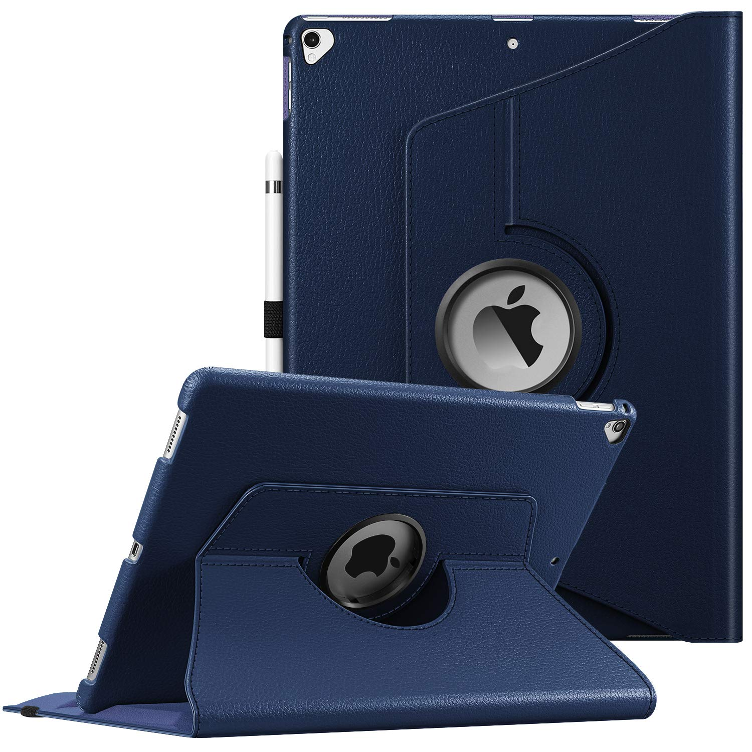 Fintie Rotating Case for iPad Pro 12.9 (2nd Gen) 2017 / iPad Pro 12.9 (1st Gen) 2015-360 Degree Rotating Stand Case with Smart Protective Cover Auto Sleep/Wake, Navy