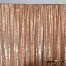 Sequin Curtain Backdrop 2 Panels 4FTx6FT Rose Gold Backdrop Curtain Photo Booth Backdrop 48inx72in -190425E