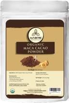 Naturevibe Botanicals Organic Maca Cacao Powder 8oz, Non-GMO and Gluten free   100% Natural Maca and Cacao Powder