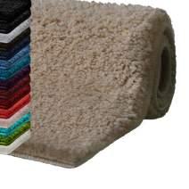 "casa pura Bath Mats for Bathroom – 20"" x 32"" Beige Bathroom Rug | Ultra Absorbent, Self-Dry Microfiber, Non-Slip Bath Mats for Floors | Bath Rugs in 10 Fresh Colors"