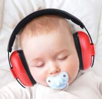 PORMUCAL Baby Ear Protection for Babies for 3 Months to 2+ Years Noise Reduction Ear Muffs for Infant and Toddlers. (Red1)