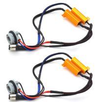 TUINCYN 2pcs 50W 8 ohm 1157 BAY15D 7528 1196 1034 1016 Led Load Resistors - Fix Headlight LED Bulb Fog Lamp Fast Hyper Flash Turn Signal Blink Light Error Code Canbus Resistors Decoder