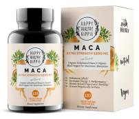 Organic Maca Root Supplement 1200mg – Gelatinized - Fast Superior Absorption - Powerful Peruvian Natural Energizer - Passion Performance for Women and Men - 120 Maca Capsules and Black Pepper