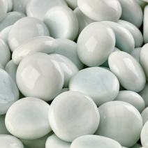 Snow White - Fire Glass Beads for Indoor and Outdoor Fire Pits or Fireplaces | 10 Pounds | 3/4 Inch