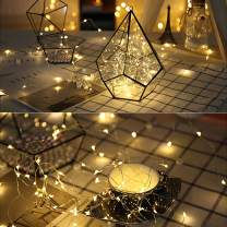 ODISTAR Mini Fairy Lights String10FT 30LED Waterproof LED Copper Wire Lights 3AA Battery Operated for Bedroom Patio Table Home PartyWedding Festival Christmas Decorations(Warm White)