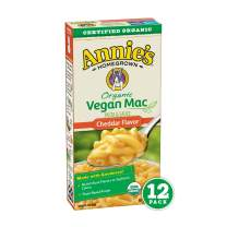 Annie's Organic Vegan Mac Cheddar Flavor Pasta and Sauce (Pack of 12)