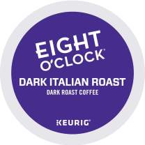 Eight O'Clock Coffee Dark Italian Roast, Single-Serve Keurig K-Cup Pods, Dark Roast Coffee, 48 Count