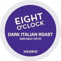 Eight O'Clock Coffee Dark Italian Roast, Single-Serve Keurig K-Cup Pods, Dark Roast Coffee, 48 Count