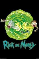 "Trends International 8.25x11.75 MDF - Rick and Morty - Portal Wall Poster, 8.25"" x 11.75"" x .197"", Unframed Version"