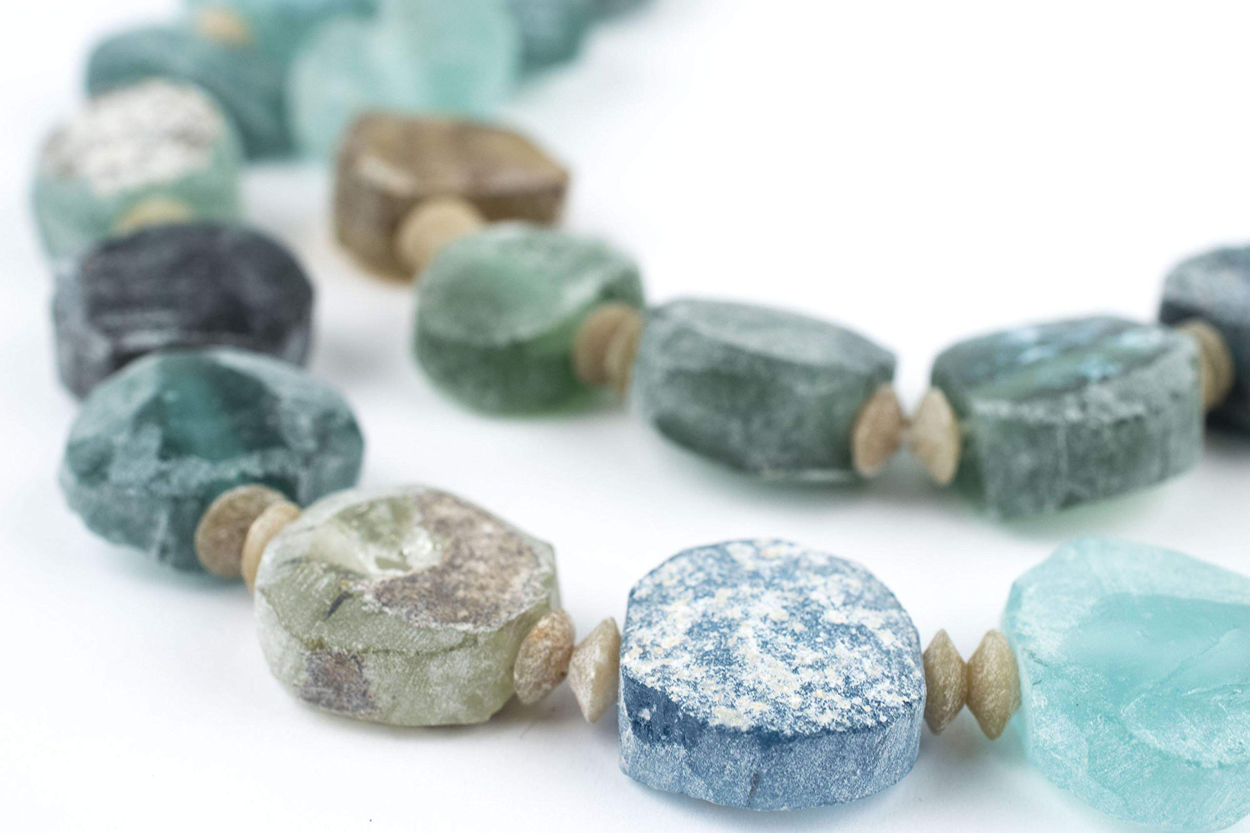 Circle Roman Glass Beads, 100% Authentic and Genuine Ancient Glass, Made in Afghanistan, Matte Glass Beads for Jewelry Making, The Bead Chest
