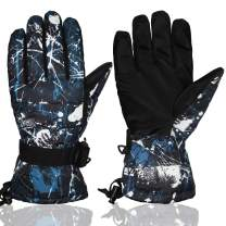 YR.Lover Ski Gloves Warm Windproof Snowboard Winter Snow Gloves for Outdoor Sports, Skiing, Sledding, Cycling,Men,Women