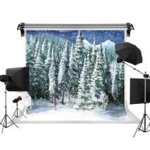Kate 7x5ft/2.2m(W) x1.5m(H) Winter Backdrop Snow Tree Background White Snow Backdrops Snowflake Photography Photo Studio Props