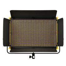 Ikan Onyx 2 x 1 Bi-Color 3200K-5600K Adjustable LED Light w/V-Mount Battery Plate, DMX Ethernet and Wireless Remote Control, Barn Doors Included (OYB15) - Black