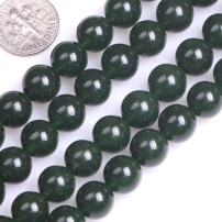 """GEM-Inside Natural 10mm Green Taiwan Jade Gemstone Loose Beads Round Crystal Energy Stone Power for Jewelry Making 15"""""""