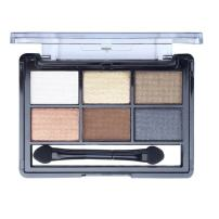 Mallofusa 6 Colors Eye Shadow Palette Eyeshadow Powder Makeup Kit Shimmer Matte Smokey 0.42 oz #7