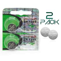 CR1225 Batteries for Thermometers - 2 Pack - Long Life 3V Coin Button Cell Lithium 1225 Thermometer Battery - Plus GloFX Brand Sticker