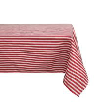 Sense Gnosis Table Decor Tablecloth Red and White Striped for Rectangle Table Waterproof Oil and Spill Proof Stain Resistant Faux Linen Table Cover for Dining 55 x 70 Inch Outdoor Picnic