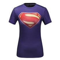Red Plume Women's Compression Sports Tech Cool S Man Logo Short Sleeve T-Shirt