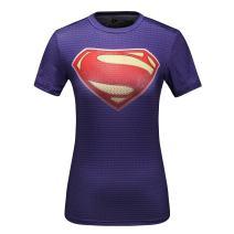 Red Plume Women's Compression Sports Tech Cool S Man Logo Short Sleeve T-Shirt