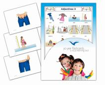 Yo-Yee Flashcards - Adjectives and Opposites Flash Cards - Set 3 - Vocabulary Picture Cards for Toddlers, Kids, Children and Adults