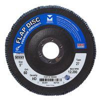 "Mercer Industries 266060 Zirconia Flap Disc, High Density, Type 27, 5"" x 7/8"", Grit 60, 10 Pack"