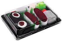 Rainbow Socks - Men's Women's - Sushi Socks Box Tuna Maki Tuna - 2 Pairs