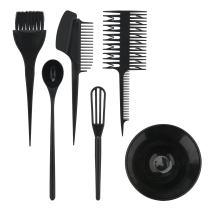 Hair Color Mixing Kit, Segbeauty 6PCS Hair Highlighting Set, Hair Dyeing Tint Brush Comb Bowl Whisk Hair Dye DIY Tool for Hairdressing