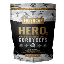 Hero - Cordyceps Mushroom Extract Powder - Organic Cordyceps Militaris - Supplement - Energy and Endurance -Real Fruiting Body No Fillers (60 Gram)