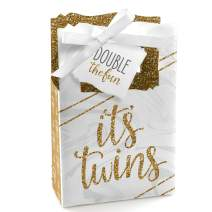 It's Twins - Gold Twins Baby Shower Favor Boxes - Set of 12