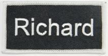 Richard Name Tag Patch Uniform ID Work Shirt Badge Embroidered Iron On Applique