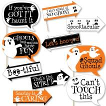 Big Dot of Happiness Funny Spooky Ghost - Halloween Party Photo Booth Props Kit - 10 Piece