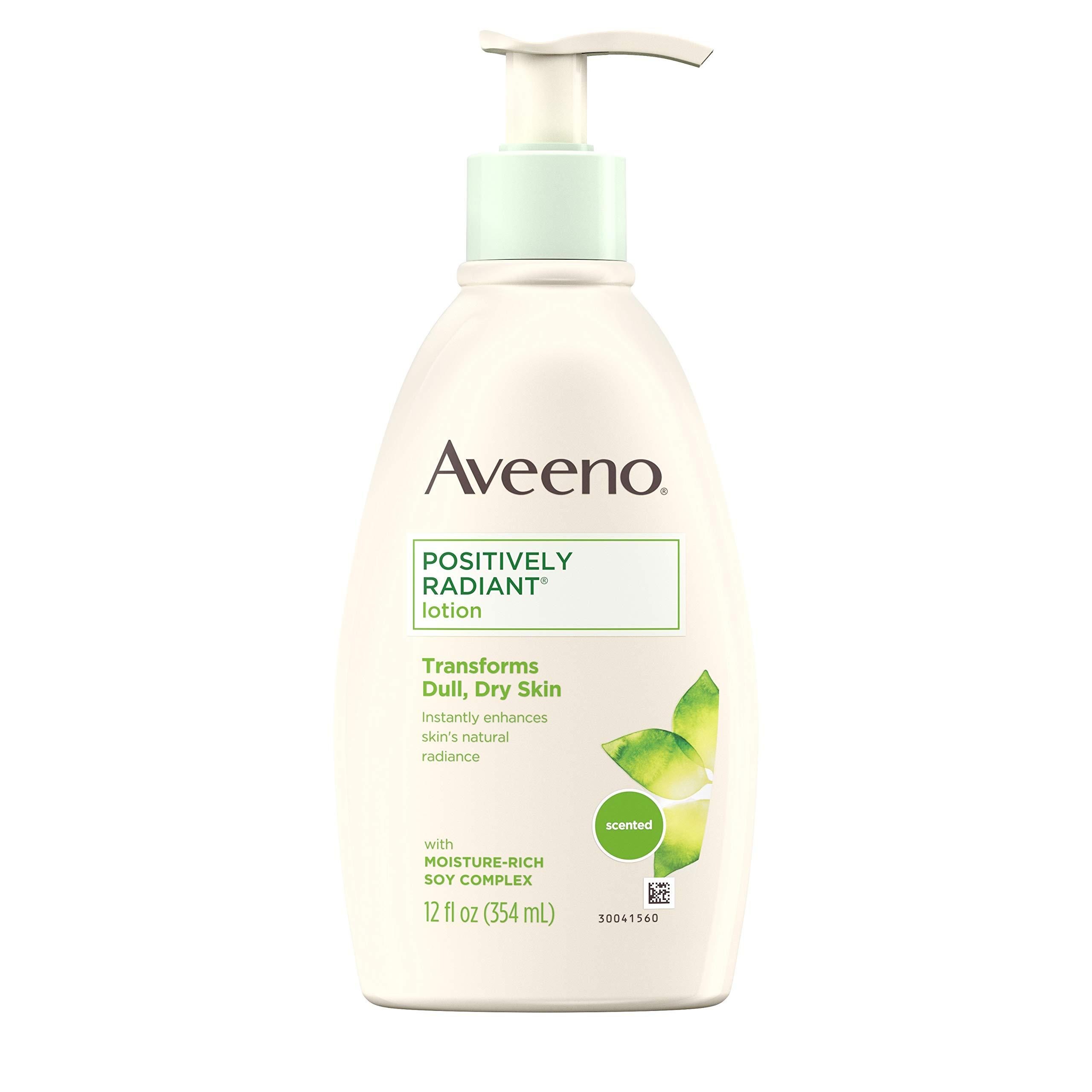 Aveeno Positively Radiant Body Lotion, 12 Fl. Oz (Pack of 3)