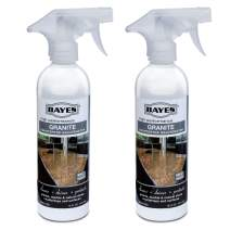 Bayes Premium Eco-Friendly Granite Countertop Cleaner and Rejuvenator Spray, 16-Ounce (Pack of 2)