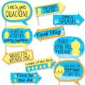 Funny Ducky Duck - Baby Shower or Birthday Party Photo Booth Props Kit - 10 Piece