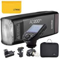 Godox AD200Pro TTL 2.4G HSS 1/8000s Pocket Flash Light Double Head 200Ws with 14.4V/2900mAh Lithium Battery and Godox XPro-S Flash Trigger Compatible for Sony Camera