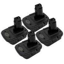 4Pack DCA1820 for Dewalt Battery Adapter for 18V Compatible with 20V Lithium Battery