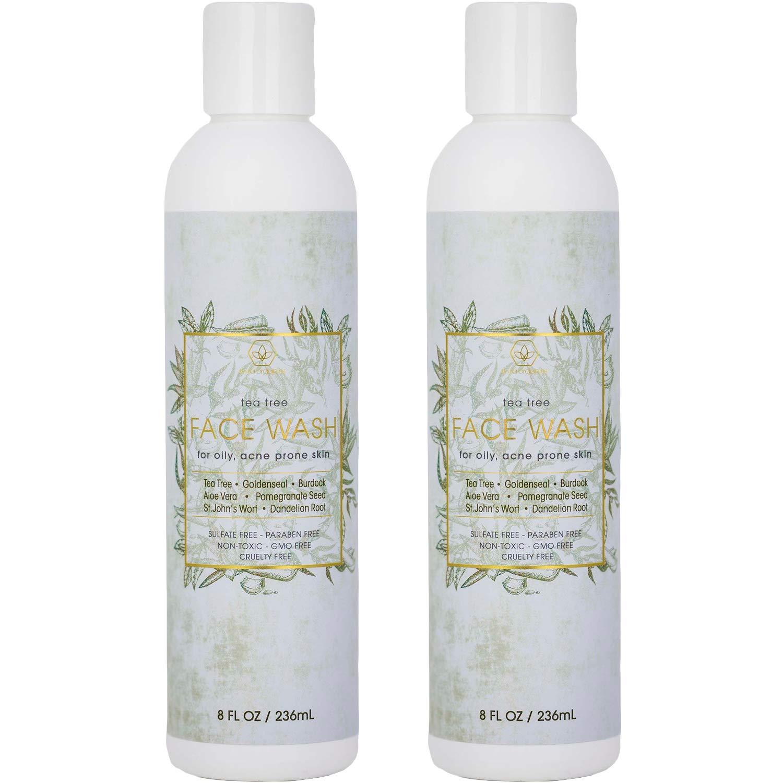 Tea Tree Oil Body Wash – (2 pack) Face & Body Wash for Dry, Oily, Acne Prone Skin & Rosacea 8oz Era-Organics