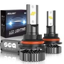 SEALIGHT 9004 HB1 Led Headlight Bulbs Hi/Lo Beam Plug and Play, 24xCSP Chips LED Headlight Kit - 6500lm 6000K White
