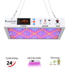 LED Grow Light 1800W Indoor Plants Light with Digital Electric Timer Veg Bloom Switch Dimmable Daisy Chain for Hydroponic Vegetables Flowers